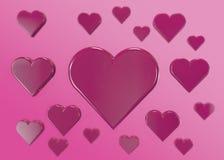 Розовые сердца Стоковая Фотография RF