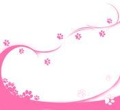 розовые следы иллюстрация вектора