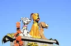 Розовые собаки парада Стоковые Изображения RF