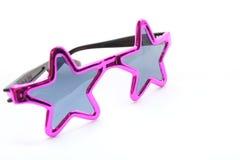 розовые солнечные очки звезды Стоковые Фото