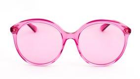 Розовые стекла солнца на белой предпосылке стоковое изображение