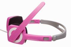 Розовые стерео наушники Стоковое Изображение RF