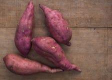 Розовые сладкие картофели Стоковая Фотография
