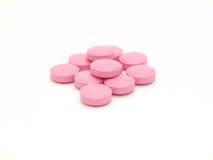 розовые таблетки стоковая фотография rf