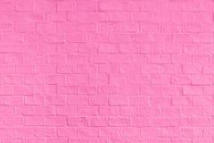 Розовые текстура и предпосылка кирпичной стены Стоковые Изображения