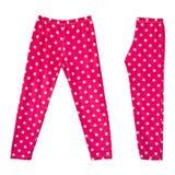 Розовые точки польки legging (тощие) для маленькой девочки Стоковое фото RF