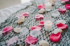 Розовые украшения пляжа Стоковое фото RF