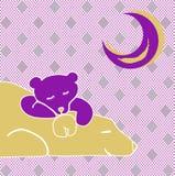 Розовые луна и медведи стоковые фотографии rf