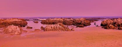 розовые утесы Стоковое Изображение RF