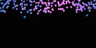 Розовые фиолетовые и голубые кубы резюмируют предпосылку с иллюстрацией космоса 3D экземпляра Стоковые Изображения RF