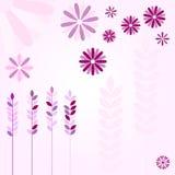 Розовые цветки и уши иллюстрация вектора
