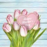 Розовые цветки на день матерей 10 eps Стоковое фото RF