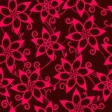 Розовые цветки на коричневой предпосылке Стоковая Фотография