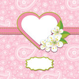 Розовые шаблон или художественное произведение дизайна Пейсли. Bac весны бесплатная иллюстрация