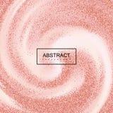 Розовые яркие блески Confetti золота на сметанообразной завихряясь предпосылке Стоковые Фотографии RF