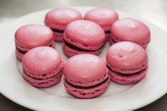 Розовые macaroons Стоковые Фотографии RF