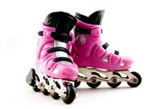 розовые rollerscates Стоковое фото RF