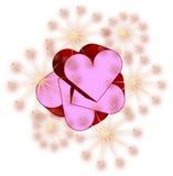 розовые valentines Стоковое Изображение