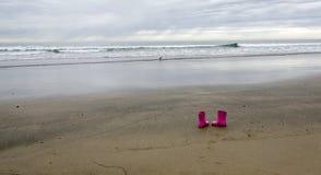 Розовые wellies выведенные на залив -2 La Jolla Стоковое Изображение