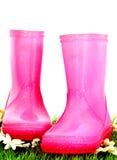 розовые wellies Стоковые Фото