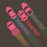 Розовый автомобиль цвета для вашего текста Иллюстрация вектора