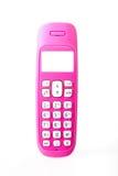 Розовый бесшнуровой телефон Стоковое Изображение RF