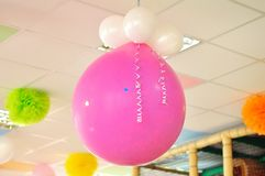Розовый большой воздушный шар Стоковое фото RF