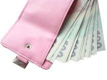розовый бумажник Стоковое Изображение RF