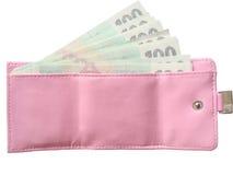 розовый бумажник Стоковое Изображение