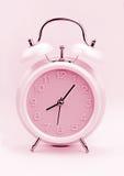 Розовый будильник, конец вверх Стоковые Изображения