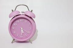 Розовый будильник Стоковое фото RF