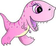 Розовый вектор динозавра Стоковые Изображения