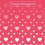 Розовый вектор картины предпосылки сердца Стоковая Фотография
