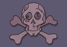 розовый вектор черепа Стоковое фото RF