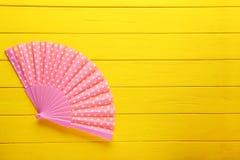 Розовый вентилятор руки Стоковые Фото