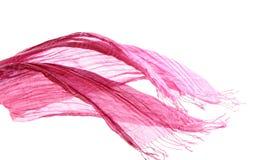 розовый ветер шарфа Стоковые Фотографии RF