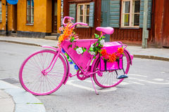 Розовый велосипед Стоковое Изображение RF