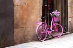 Розовый велосипед Стоковая Фотография RF