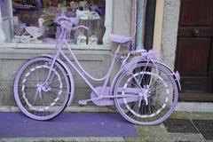 Розовый велосипед Стоковое фото RF