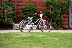 Розовый велосипед Стоковое Фото
