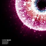 Розовый взрыв галактики на черной предпосылке Стоковые Изображения RF