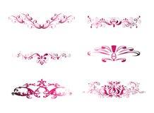 Розовый винтажный элемент флористического дизайна Стоковое Изображение