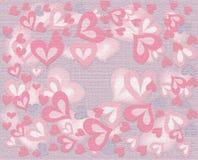 Розовый вихрь сердец иллюстрация штока