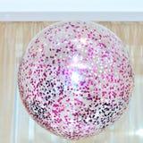 Розовый воздушный шар гелия Стоковые Фото