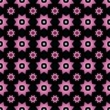 Розовый градиент на черноте с 2 различным определил размер звезды с квадратами и объезжает безшовную предпосылку картины повторен бесплатная иллюстрация