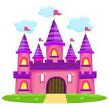 Розовый замок иллюстрация штока