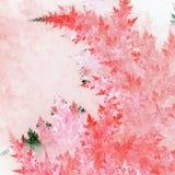 Розовый заморозок фрактали иллюстрация штока