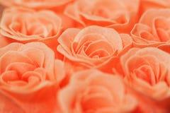 Розовый захват конца-вверх селективного фокуса роз стоковые фотографии rf