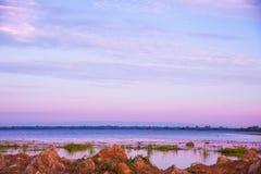 розовый заход солнца неба Стоковое Изображение