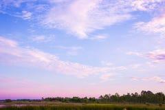 розовый заход солнца неба Стоковые Фотографии RF